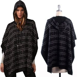 Haute Hippie Skull Hooded Poncho O/S Fits All